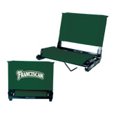 Stadium Chair Dark Green-Arched Franciscan