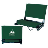 Stadium Chair Dark Green-Franciscan University Mark