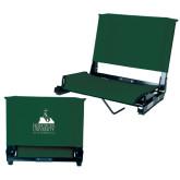 Stadium Chair Dark Green-Franciscan University Mark