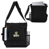 Impact Vertical Black Computer Messenger Bag-Barons - Franciscan University - Official Logo