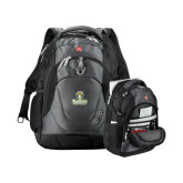 Wenger Swiss Army Tech Charcoal Compu Backpack-Barons - Franciscan University - Official Logo