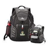 High Sierra Big Wig Black Compu Backpack-Barons - Franciscan University - Official Logo
