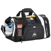 High Sierra Black 22 Inch Garrett Sport Duffel-Franciscan University Mark