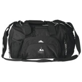 High Sierra Black Switch Blade Duffel-Franciscan University Mark