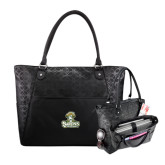Sophia Checkpoint Friendly Black Compu Tote-Barons - Franciscan University - Official Logo