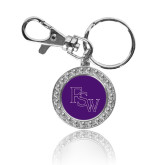 Crystal Studded Round Key Chain-Pirate