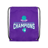 Purple Drawstring Backpack-Suncoast Womens Basketball Champions