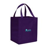 Non Woven Purple Grocery Tote-Primary Logo