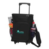30 Can Black Rolling Cooler Bag-Primary Logo