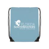Light Blue Drawstring Backpack-Primary Logo