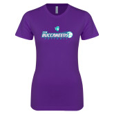 Next Level Ladies SoftStyle Junior Fitted Purple Tee-FSW Buccaneers Softball