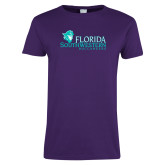Ladies Purple T Shirt-Florida SW Buccaneers