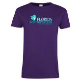 Ladies Purple T-Shirt-Florida SW Buccaneers