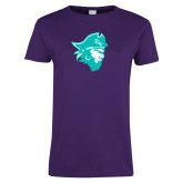 Ladies Purple T Shirt-Pirate