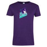 Ladies Purple T Shirt-Bucs Pirate