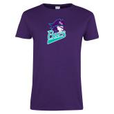 Ladies Purple T-Shirt-Bucs Pirate