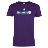 Ladies Purple T-Shirt-FSW Buccaneers Baseball