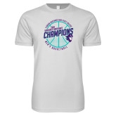 Next Level SoftStyle White T Shirt-Suncoast Mens Basketball Champions