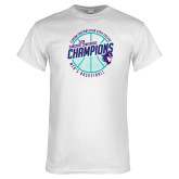 White T Shirt-Suncoast Mens Basketball Champions