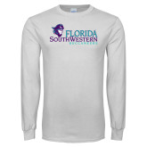 White Long Sleeve T Shirt-Florida SW Buccaneers