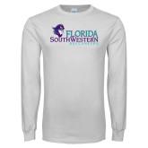 White Long Sleeve T Shirt-Florida SW Buccaneers