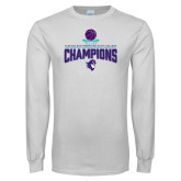 White Long Sleeve T Shirt-Suncoast Womens Basketball Champions