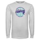 White Long Sleeve T Shirt-Suncoast Mens Basketball Champions