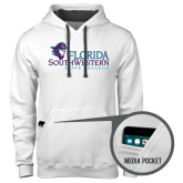 Contemporary Sofspun White Hoodie-Primary Logo