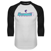 White/Black Raglan Baseball T Shirt-FSW Buccaneers Baseball