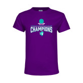 Youth Purple T Shirt-Suncoast Womens Basketball Champions