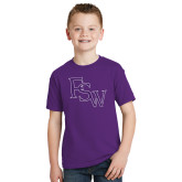 Youth Purple T Shirt-FSW