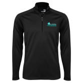 Syntrel Black Interlock 1/4 Zip-Primary Logo
