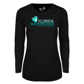 Ladies Syntrel Performance Black Longsleeve Shirt-Primary Logo