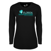 Ladies Syntrel Performance Black Longsleeve Shirt-Florida SW Buccaneers