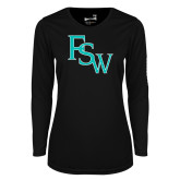 Ladies Syntrel Performance Black Longsleeve Shirt-FSW