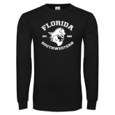 Black Long Sleeve T Shirt-Florida SouthWestern with Pirate