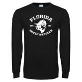 Black Long Sleeve T Shirt-Florida SouthWestern with Pirate