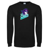 Black Long Sleeve T Shirt-Bucs Pirate
