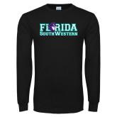 Black Long Sleeve T Shirt-Florida Stacked