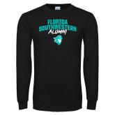 Black Long Sleeve T Shirt-Florida SouthWestern Alumni Arched