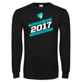 Black Long Sleeve T Shirt-Class Of - Slanted Banners, Personalized Year