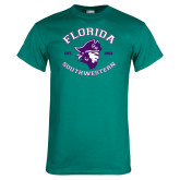 Teal T Shirt-Florida SouthWestern with Pirate