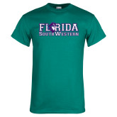 Teal T Shirt-Florida Stacked