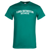 Teal T Shirt-Arched Florida SouthWestern Buccaneers