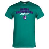 Teal T Shirt-Florida SouthWestern Alumni Arched