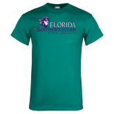 Teal T Shirt-Primary Logo Distressed