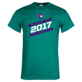 Teal T Shirt-Class Of - Slanted Banners, Personalized Year