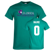 Teal T Shirt-Primary Logo, Custom Tee w/ Name and #