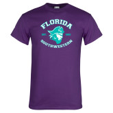 Purple T Shirt-Florida SouthWestern with Pirate