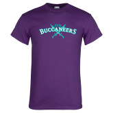 Purple T Shirt-FSW Buccaneers Swords